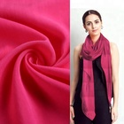 African woven plain dyed crushed voile fabric scarf for women gift