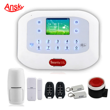 Wireless& Wired GSM SMS Home House Security Inturder Alarm System +Door Sensors+Motion Sensors+Remote Controller