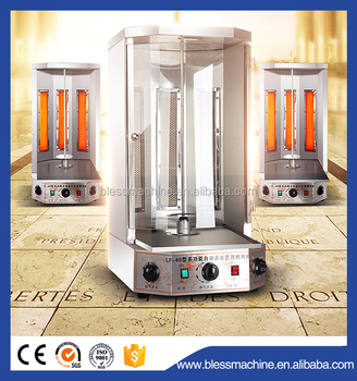 2018 cost-effective gas chicken shawarma machine price exhibited at Canton fair
