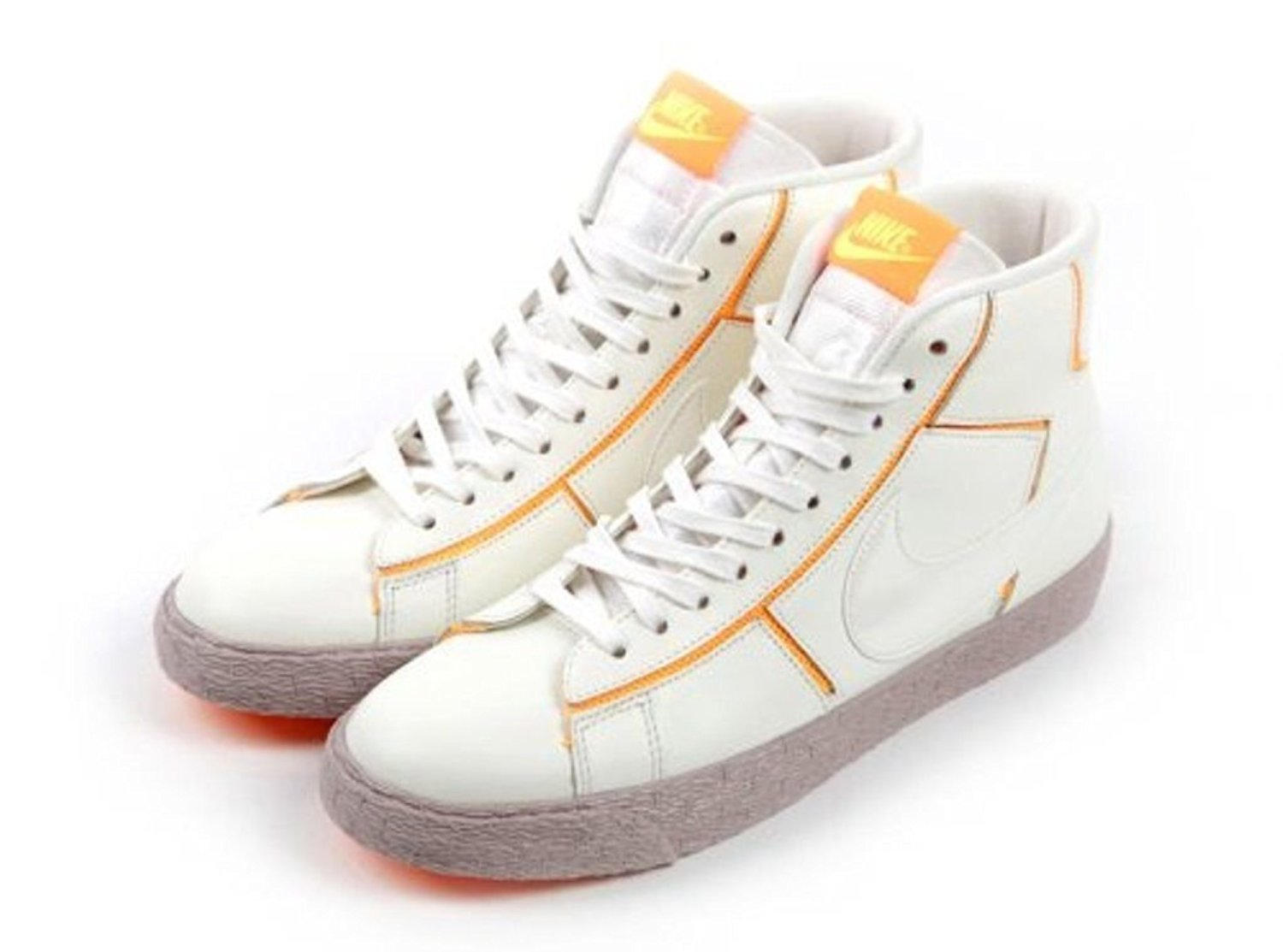 online retailer d5117 d4628 Get Quotations · Nike Blazer Mid Cut Out Premium Women s Shoes Sail atomic  Mango medium Orewood Brown