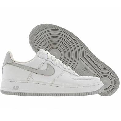 Nike Air Force 1 (Big Kids) Big Kids Basketball Shoes 306291-101 Size 6.5 D (Standard Width) White/Neutral Grey