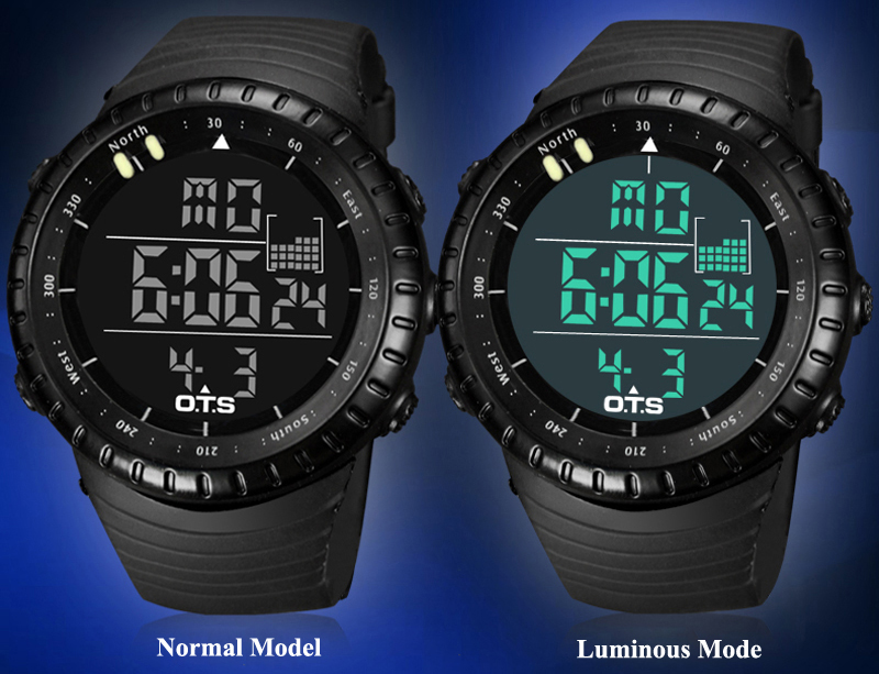 Detail Feedback Questions about OTS Men s Watch LED Sports Digital Watch  Clock 50M Waterproof Men Top Brand Luxury Hour Military Wristwatches  Relogio ... bedf3029c93