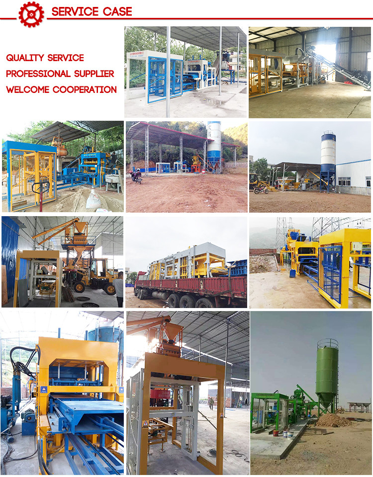 Building Material Fully Automatic Concrete  Interlocking Brick Making Machine