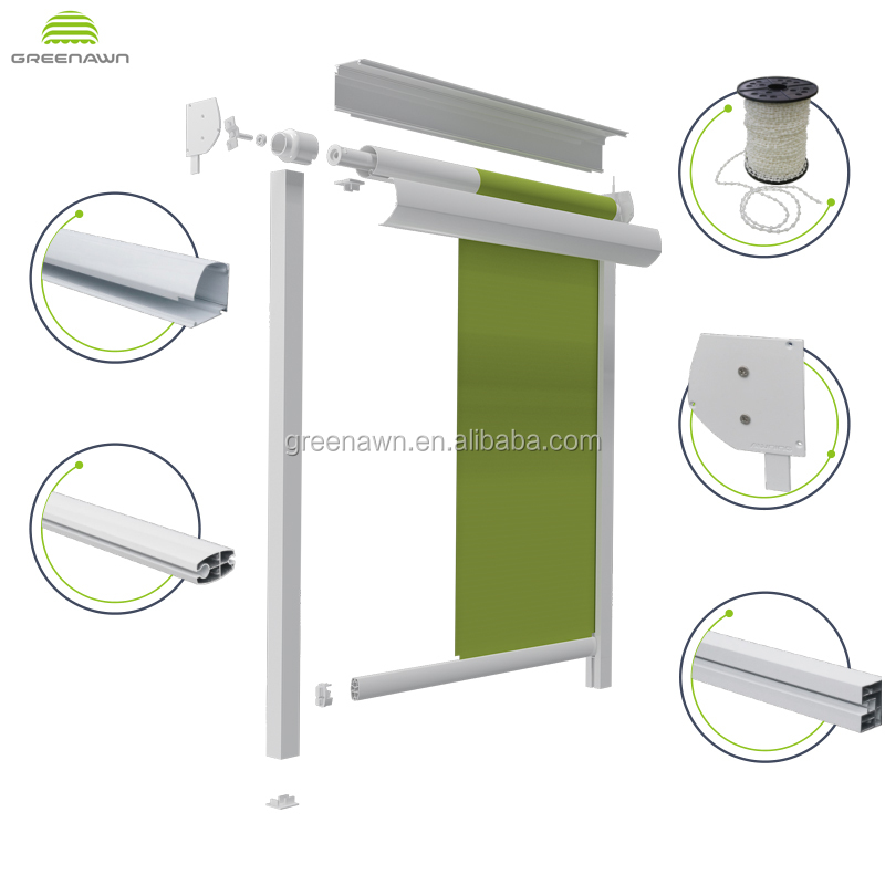 Greenawn Roller Awnings Spare Parts/Vertical Awning Components for Sale