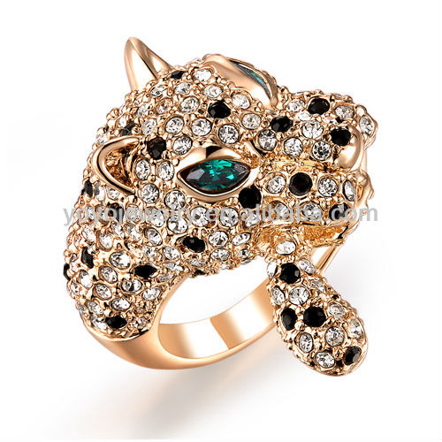 Dresses 2015 Pave Crystal Italy Style Jaguar Lastest Gold Ring ...