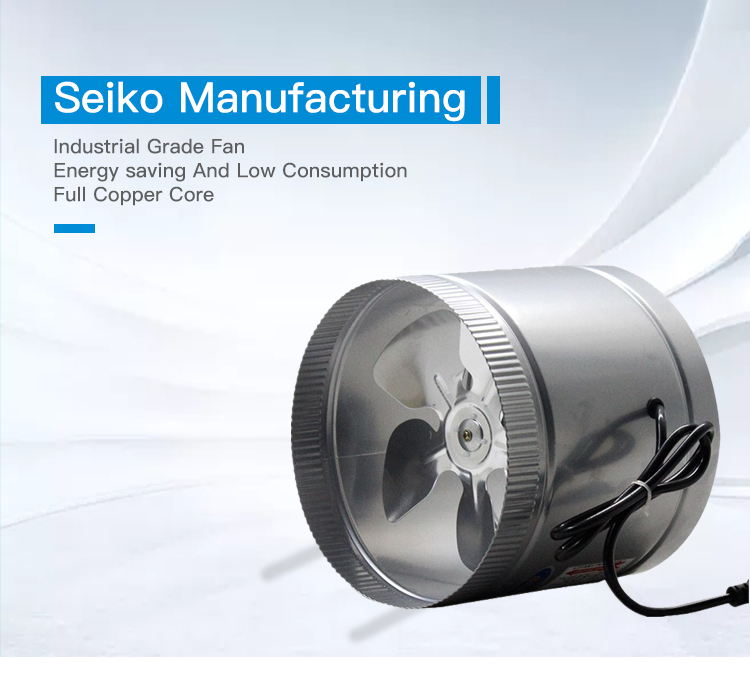 4/6/8 inch Hydroponic exhaust air Duct Fans for ventilation
