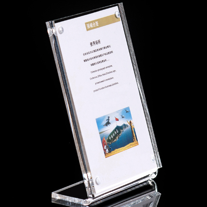 Exhibition Literature Stand : Table clear sign holder a4 acrylic inclined literature stand for