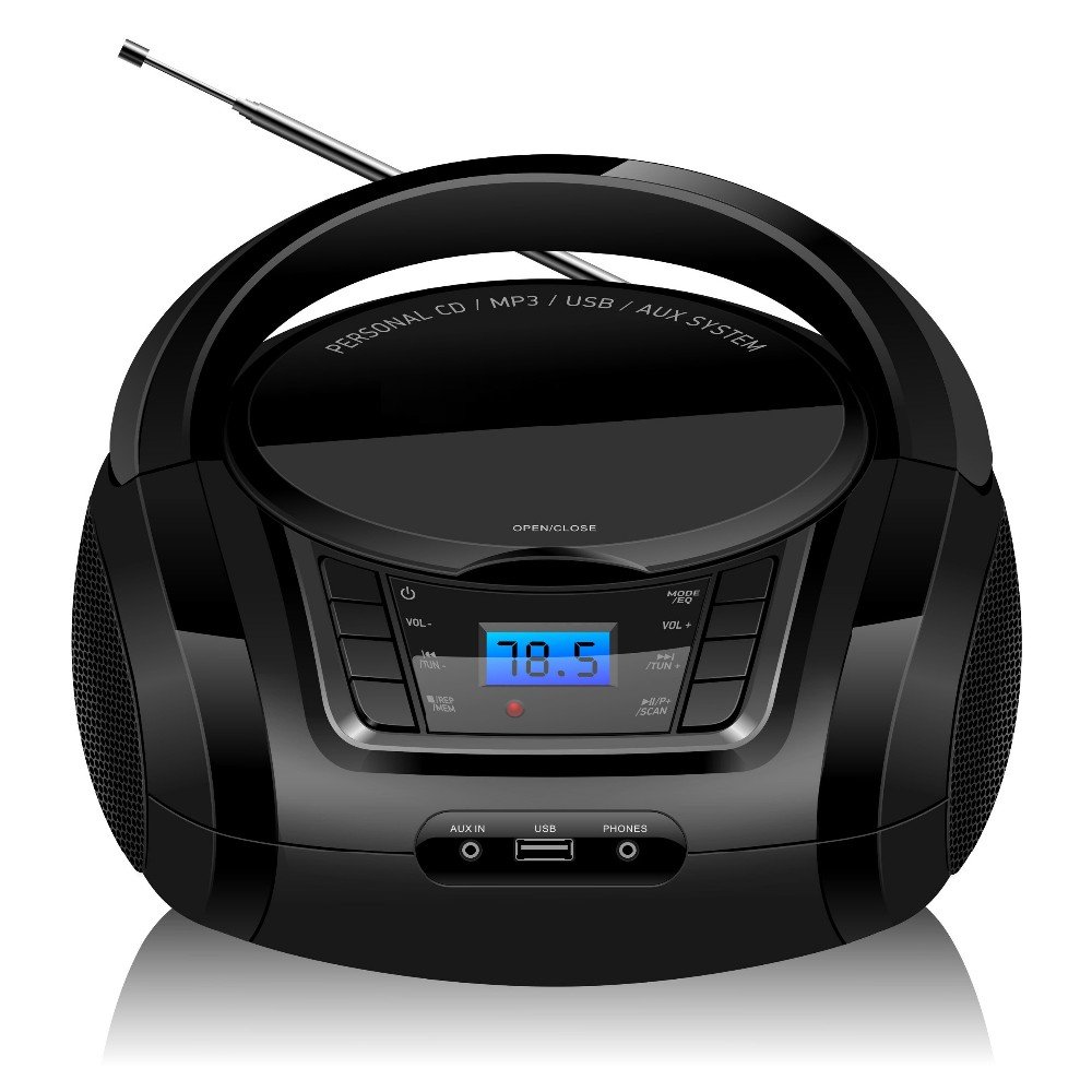 MP3 WMA Portable blue tooth CD boombox with FM radio