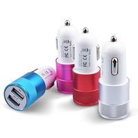 Cheap Wholesale Colorful Dual USB Car Charger for iphone Promotional customized mini Universal USB Car Charger