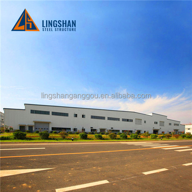 High quality light gauge steel structure prefab workshop with ISO9001:2008