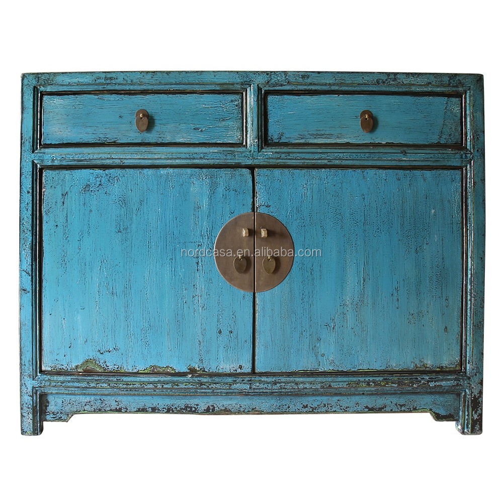 Blue living room cabinet of antique furniture in wholesale for Cheap vintage furniture