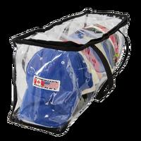 Fashion Clear Zipper Collapsible Soft Plastic Sports Staff Transparent Storage Bag