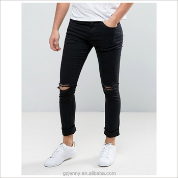 Black Jeans Men Slim Denim New Style Boys Pants Jeans Fashion Ripped Jeans 6fdfdae9a