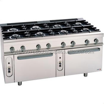 8 Burners With 2 Ovens Gas Range Hotel Kitchen Equipment Industrial Kitchen Equipment Indian Restaurant Kitchen Equipments Buy Commercial Gas