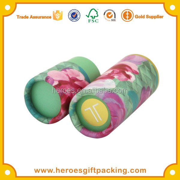 Trade Assurance Cosmetic Cardboard Tubes for Lip Balm Paper Tube Packaging
