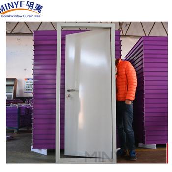 Exterior Steel Security Door With Glassiron Design Stronger Steel
