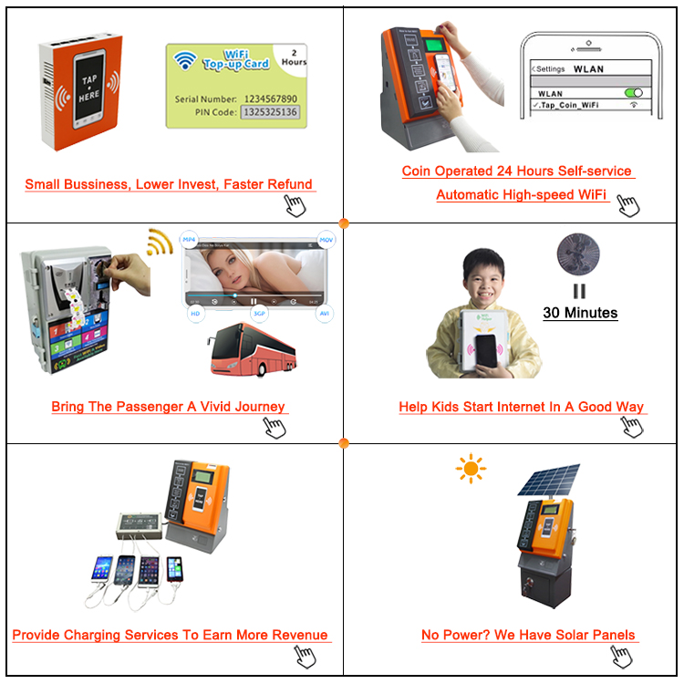 New Product Idea 2019 Steel Plate Vandal-Proof Coin-Operated WiFi Hotspot Cheap Vending Machine
