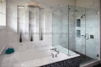 Badkamer wandtegels ontwerp marmeren bad witte italiã« bianco