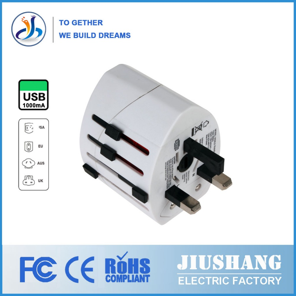 Universal international stecker-adapter USB reiseadapter mit AU US UK eu-stecker