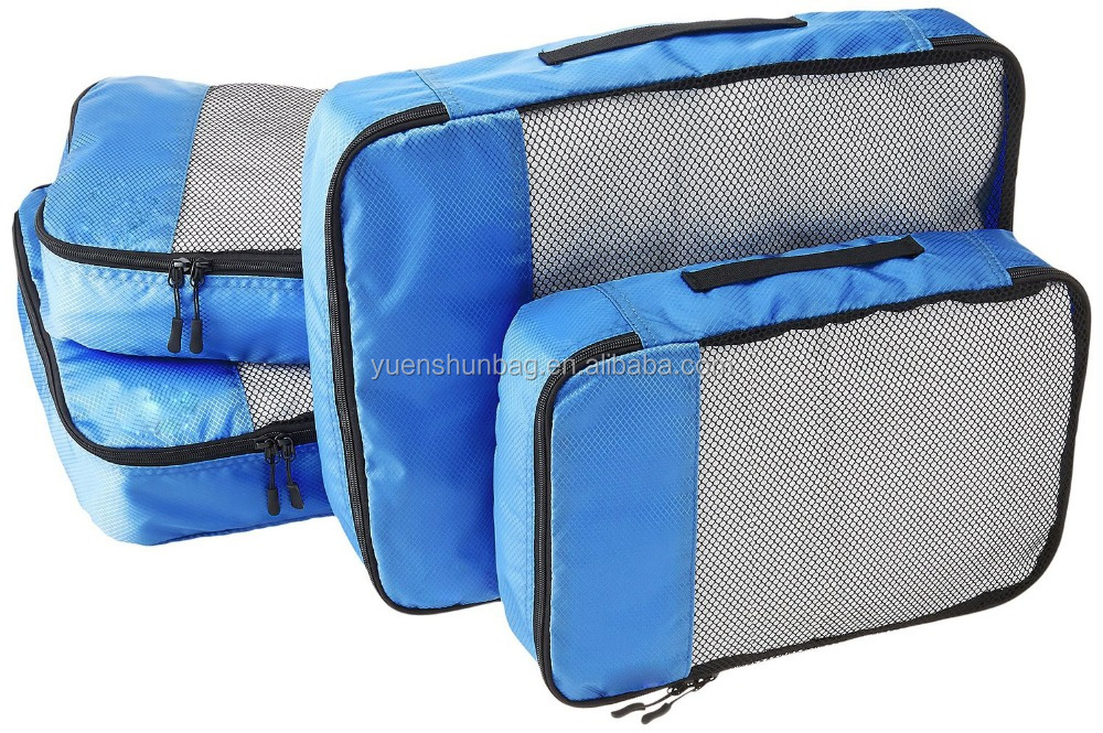 Packing Cubes - 4 pc Set Organizer Car Seat Travel Bag