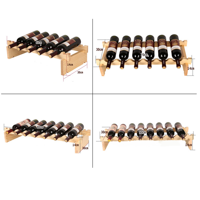 Customized wine rack with multi layer solid wooden wine rack floor wine rack holder