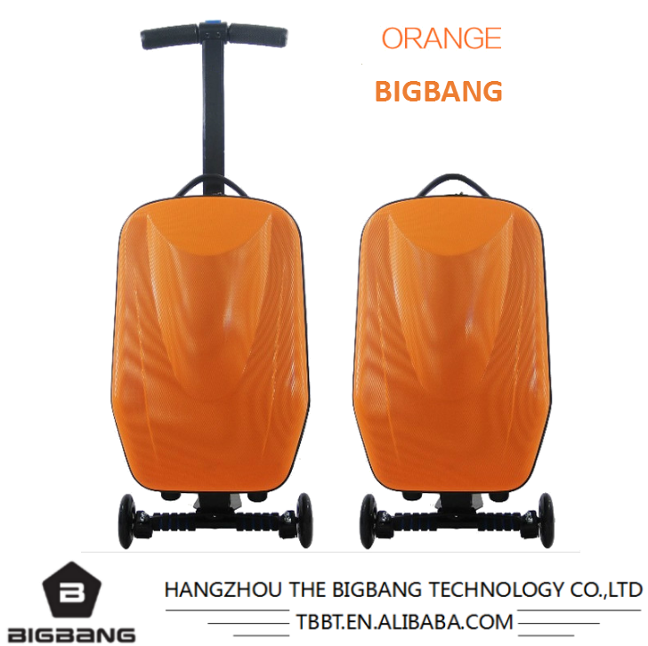 HANGZHOU THE BIGBANG 2017 new type luggage bags & cases wanted business partner trolley bag scooter luggage