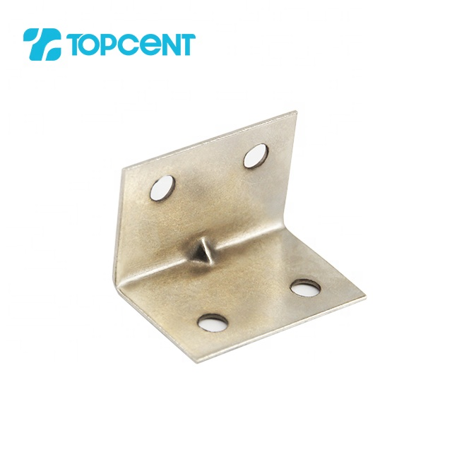 Topcent 90 degree furniture kitchen cabinet metal angle shelf hanging wall mounting support corner connecting brackets
