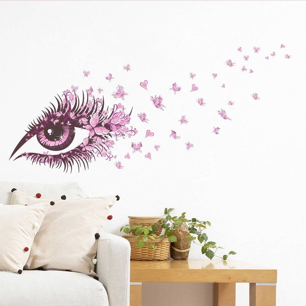 DIY Eye Vinyl Removable Wall Decoration Sticker Colorful Wall Sticker