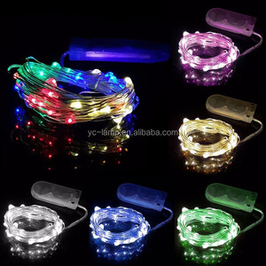 Cr2032 Button Battery Operated Mini Micro led copper wire branch string lights