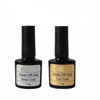 private label 10ml top and base coat gel nails One Step Shiny Sealer Manicure UV LED Soak Off Gel Lacquer