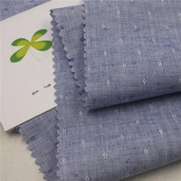 China supplier 50 cotton 50 linen yarn dyed dobby denim fabric for shirt
