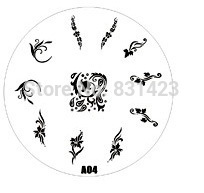 2015 new A Series A04 Nail Art Polish DIY Stamping Plates Image Templates Nail Stamp Stencil