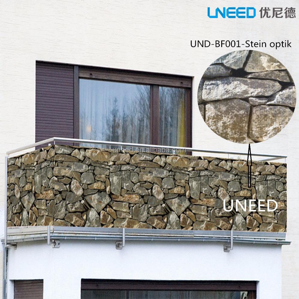 100 Uv المقاومة 450 جرام M2 0 75x6 متر البلاستيكية شرفة السياج