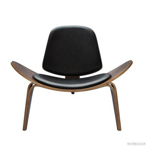 Wooden walnut Lounge chair home furniture Hans Wenger Shell Chair