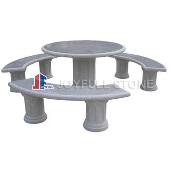 Tavoli Di Pietra Da Giardino.Giardino Di Pietra Tavoli E Sedie Mobili Da Giardino Rotondo
