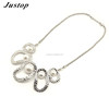 2016 fashion accessory silver chain pearl jewelry beads with alloy charms