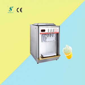 Pre cooling 18~25L/h frozen yogurt soft ice cream machine for sale