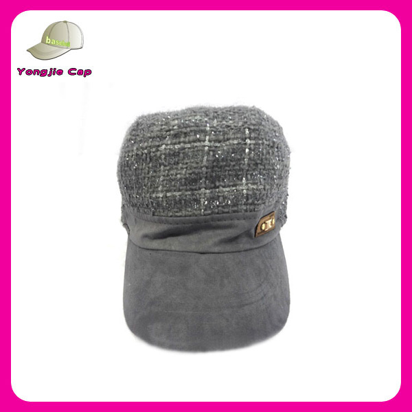 high quality sequined winter military style hats for women