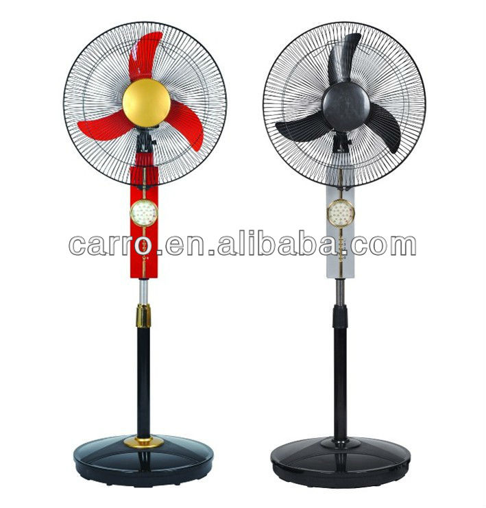 "3 in 1 12V 18"" solar rechargeable fans with led light CE-12V18K"