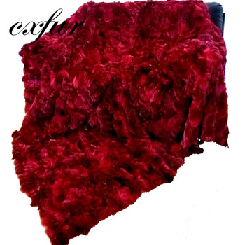 CX-D-116B Red Skin Plate Real Natural Fox Fur Plates