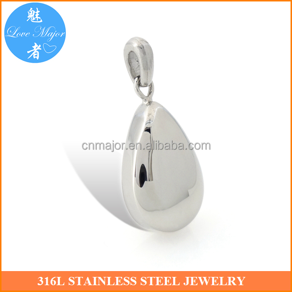 Fashion Water Drop Design Pendant Urn Stainless Steel Cremation Jewelry MJLY-0609