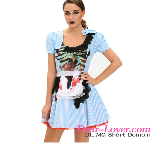 Hot Sexy Zombie Kansas Girl Adult Halloween Costume Drop Ship