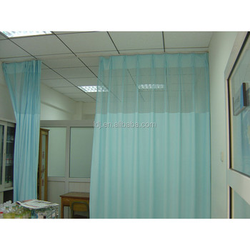 High Grade Beautiful Flame Medical Partition Curtain Retardant Fabric