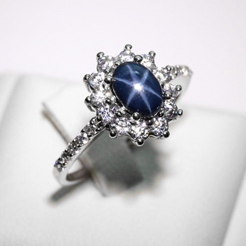 a9169f69e93866 Natural Blue Star Sapphire Ring - Buy 925 Sapphire Ring Product on ...