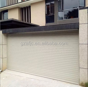 Guangzhou steel garage door with CE certificate, parking entrance gate