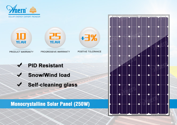 2019 Anern new product 5W to 250W buy solar cells with CE RoHS approved