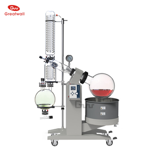 2018 New Design Pilot Plant 20l Rotary Vacuum Evaporator Set for CBD Oil Extraction with Vacuum Pump and Chiller