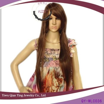 815b02702b3 Cheap Natural Girls Fake Light Brown Very Long Synthetic Hair Wigs ...