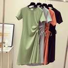 Elastic Band Side A-Line Adjustable Korean Fashion Dress Teen College Style Clothing