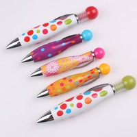 Wholesale Mini Colorful Cute Metal Ballpoint Pens Twist Ballpen